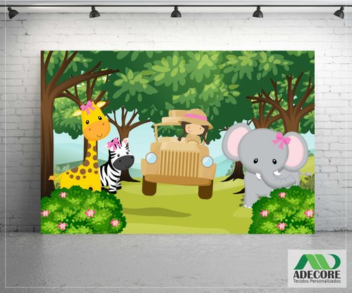 Painel Sublimado Safari Cute