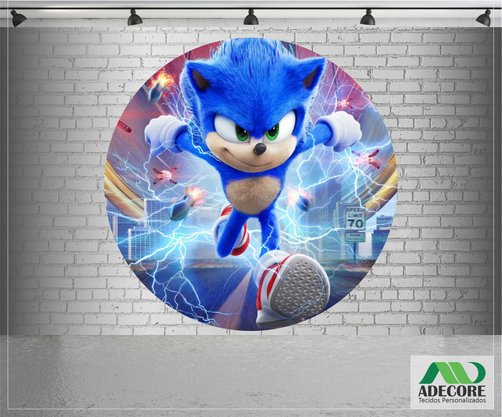 Painel Sublimado Sonic