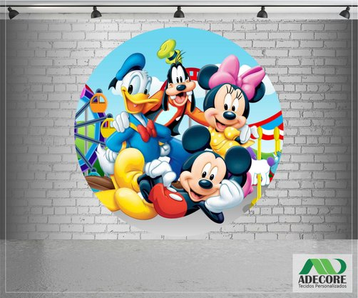 Painel Sublimado Turma do Mickey